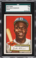 Baseball Cards:Singles (1950-1959), 1952 Topps Jackie Robinson #312 SGC 70 EX+ 5.5....