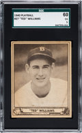 Baseball Cards:Singles (1940-1949), 1940 Play Ball Ted Williams #27 SGC 60 EX 5....
