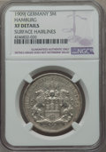 German States:Hamburg, German States: Hamburg. Free City Trio of Certified 3 Mark Coins,... (Total: 3 coins)