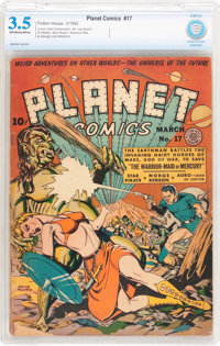 Planet Comics #17 (Fiction House, 1942) CBCS VG- 3.5 Off-white to white pages