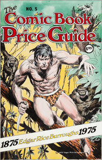 Joe Kubert Overstreet Comic Book Price Guide #5 Cover Tarzan Original Art (Bob Overstreet, 1975)
