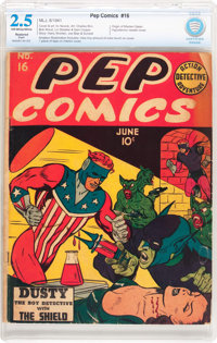 Pep Comics #16 (MLJ, 1941) CBCS Restored (Slight) GD+ 2.5 Off-white to white pages