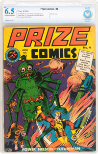 Prize Comics #4 (Prize, 1940) CBCS FN+ 6.5 Cream to off-white pages