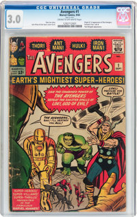 The Avengers #1 (Marvel, 1963) CGC GD/VG 3.0 Cream to off-white pages