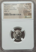 Ancients:Greek, Ancients: THESSALY. Larissa. Ca. 356-342 BC. AR drachm (6.06gm)....