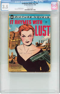 It Rhymes With Lust #nn (St. John, 1950) CGC VG- 3.5 Off-white pages