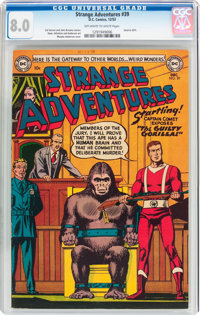 Strange Adventures #39 (DC, 1953) CGC VF 8.0 Off-white to white pages