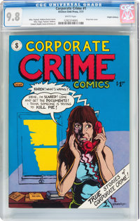 Corporate Crime Comics #1 Haight-Ashbury Pedigree (Kitchen Sink, 1977) CGC NM/MT 9.8 White pages