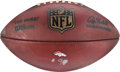 Football Collectibles:Others, 2016 Peyton Manning Second to Last Career Touchdown Reception Football, Used in AFC Championship Game....