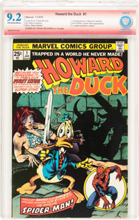 Howard the Duck #1 Verified Signature (Marvel, 1976) CBCS NM- 9.2 Off-white to white pages