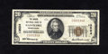 National Bank Notes:Pennsylvania, Nanticoke, PA - $20 1929 Ty. 1 The Miners NB Ch. # 13524. This bright note is one of 19 Small in the census. This Very...