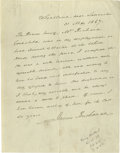 Autographs:U.S. Presidents, James Buchanan Writes a Letter of Recommendation for a White House Servant Fired By Mary Lincoln! Autograph Letter Signed, 1...