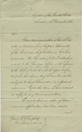 "Autographs:U.S. Presidents, James Buchanan (1791-1868), President, Letter Signed ""James Buchanan"" as United States Minister to Great Britain, two pa..."