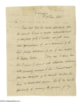 "Autographs:U.S. Presidents, Andrew Jackson (1767-1845) President, Letter Signed, ""AndrewJackson"" as President, two pages, 7.5"" x 9.75"", Washington, Jun..."