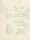 Autographs:U.S. Presidents, Andrew Johnson: War-Date Letter Regarding the Press in Tennessee.Letter Signed, as Senator, 2 pages albeit signed on r...