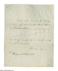 Autographs:U.S. Presidents, For Lincoln's Thanksgiving Proclamation . Abraham Lincoln(1809-1865) President, important partly-printed Document Signed ...