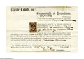 """Autographs:U.S. Presidents, Abraham Lincoln Orders Underage Boy Dismissed From Army - and Bounty Repaid! Autograph Endorsement Signed (""""A. Lincoln""""), as..."""