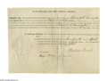 """Autographs:U.S. Presidents, Abraham Lincoln Document Signed """"Abraham Lincoln."""" One page, 10.75"""" x 7.75"""", Washington D.C., April 17th, 1861. This..."""