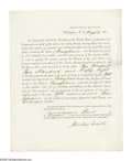 Autographs:U.S. Presidents, Abraham Lincoln issues a draft call to Pennsylvania. Abraham Lincoln (1808-1865), President, fine content partly print...