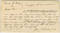 """Autographs:U.S. Presidents, Abraham Lincoln. Autograph Document Signed """"Jones & Lincolnp.d."""" No place or date [Tazewell Co., Ill.; docketed October..."""