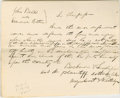 "Autographs:U.S. Presidents, Abraham Lincoln. Autograph Document Signed ""Bachman &Lincoln, p.d."" No place or date [Menard Co., Ill.; docketedJune 1..."
