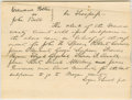 "Autographs:U.S. Presidents, Abraham Lincoln. Autograph Document Signed ""Logan & Lincoln p.d."" Menard Co. (Ill.), no date [docketed October 1841], on..."