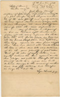 "Autographs:U.S. Presidents, Abraham Lincoln. Autograph Document Signed twice ""Logan & Lincoln p.q."" Christian Co., Ill., June 1842, about one page i..."