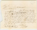 """Autographs:U.S. Presidents, Abraham Lincoln. Document Signed """"And the plaintiff doth thelike - Peters & Lincoln p.q."""" No place or date [VermilionC..."""