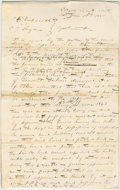 "Autographs:U.S. Presidents, Abraham Lincoln. Document Signed ""Bowman & Lincoln forplaintiffs"", with about 20 additional words in Lincoln's hand.E..."