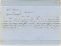 """Autographs:U.S. Presidents, Abraham Lincoln. Autograph Document Signed """"Blackburn & Lincoln p.d."""" No place [Edgar Co., Ill.], May 12, 1851, about on..."""