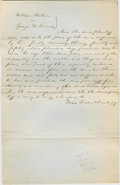 "Autographs:U.S. Presidents, Abraham Lincoln. Autograph Document Signed ""Davis, Linder &Lincoln p.q."" No place or date (Vermilion Co., Ill.; dockete..."