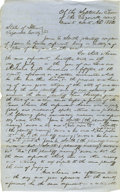 """Autographs:U.S. Presidents, Abraham Lincoln. Autograph Document Signed """"Saltonstall, forplff"""". Tazewell Co. (Ill.), September 1852, one and one-hal..."""