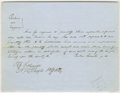 """Autographs:U.S. Presidents, Abraham Lincoln. Autograph Legal Document Signed """"Parker &Lincoln p.d."""" No place or date [Tazewell Co., Ill.; docketed..."""