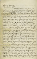 Autographs:U.S. Presidents, Abraham Lincoln. Unsigned Autograph Document. Vermilion Co., Ill., 3 June 1853, three and one-quarter pages, folio. A long, ...