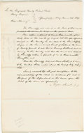 "Autographs:U.S. Presidents, Abraham Lincoln. Document Signed ""Taylor & Lincoln p.q."" Tazewell Co. [Ill.], May 1854, three-quarters page, folio. The ..."