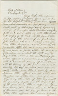 Autographs:U.S. Presidents, Abraham Lincoln. Unsigned Autograph Document. Champaign Co., Ill., 21 May 1855, one and one-half pages, folio, on faintly ru...