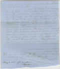 "Autographs:U.S. Presidents, Manuscript letter signed ""Swett, Lawrence, Lincoln & LamonAtty's for deft"" in an unknown hand. Danville, Ill., May 1,1855,..."