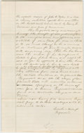 """Autographs:U.S. Presidents, Abraham Lincoln. Autograph Document Signed """"Lincoln & Hillfor Respondent"""". De Witt Co. [Ill.], no date [docketed March..."""