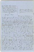 Autographs:U.S. Presidents, Abraham Lincoln. Unsigned Autograph Document. No place or date, oneand one-quarter pages, folio, on faintly ruled blue pape...