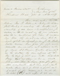 """Autographs:U.S. Presidents, Lincoln Law Partner, William Henry Herndon. Autograph Document Signed """"Wells Wells & Lake / by Lincoln & Herndon…"""" No plac..."""