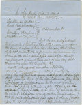 """Autographs:U.S. Presidents, Lincoln Colleague, Henry Clay Whitney. Autograph Document Signedtwice """"Lincoln & Whitney attys for deft."""" Champaign Co. [..."""