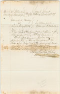 "Autographs:U.S. Presidents, Lincoln Colleague, Henry Clay Whitney. Autograph Legal DocumentSigned ""A. Lincoln & H.C. Whitney Attorneys for Plaintiff""..."
