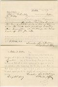 "Autographs:U.S. Presidents, Lincoln Partly Printed Document, signed twice in an unknown hand""Lincoln, Linn & Sheldon / Attys for plff"". Champaign Co.,..."