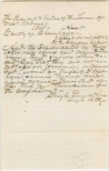 """Autographs:U.S. Presidents, Lincoln Document in an unknown hand, signed """"Langley, Lincoln &Jones/ Defts Attys"""". Champaign Co. [Ill.], April 1859, one-h..."""