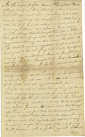 Autographs:U.S. Presidents, Abraham Lincoln's Stepmother's Father's Will and Testament Mentioning Sarah Bush Johnston.. Christopher Bush, extremely...
