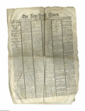 Books:Periodicals, President Lincoln Shot by an Assassin- April 15, 1865 New York Times. The full eight-page edition, published between the...