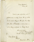Autographs:Statesmen, Abraham Lincoln: George Harriman An Uncommon Letter of Lincoln'sActing Secretary of the Treasury Autograph Letter Signed, ...