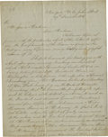 "Autographs:Celebrities, Thomas L. McKenney to Dolley Madison Autograph Letter Signed,""Tho L McKenney"". Three pages, 7.5"" x 10.0"", New York City,..."