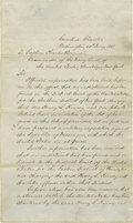 Autographs:Statesmen, Historic Archive with Letter by President Franklin Pierce OrderingArrest of an American Planning His Own Private War..