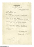 Autographs:U.S. Presidents, Franklin Roosevelt works on restoring Warm Springs. Franklin Delano Roosevelt (1882-1945) President, fine content Type...